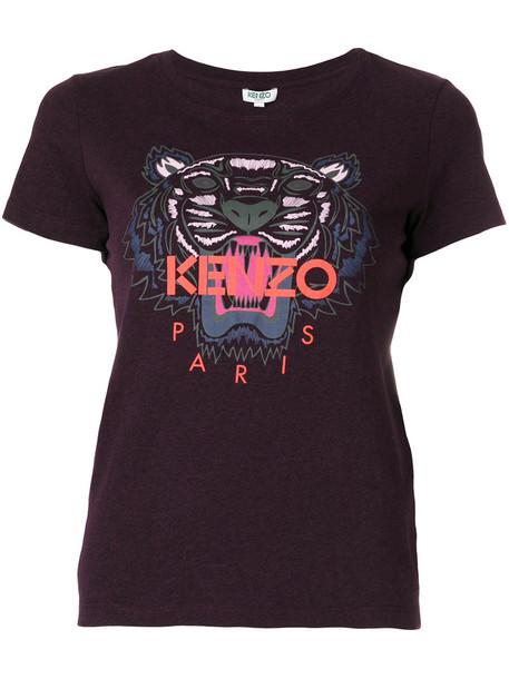 Kenzo - Tiger T-shirt - women - Cotton - M, Pink/Purple, Cotton