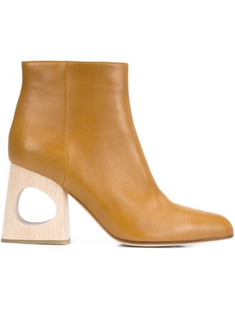 heel boots ankle boots brown shoes
