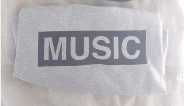 t-shirt music tee music grey and black