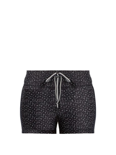 The Upside shorts print white black