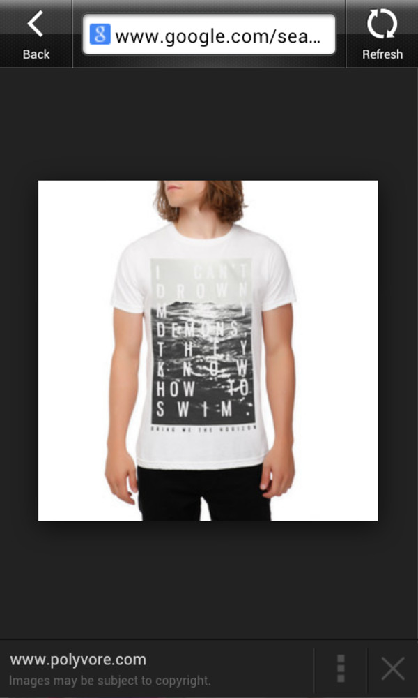 hot topic bring me the horizon mens t-shirt