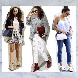 samieze blogger jeans sweater shoes bag shirt pants