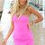 Pink Strapless Dress - Neon Pink Strapless Bodycon Dress | UsTrendy