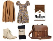 bag,this outfit,drugs,socks,dress,cardigan,vintage dress,american horror story