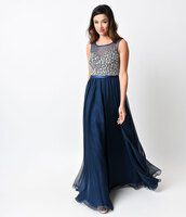 dress,unique prom,prom gown,prom dress,gown,chiffon,embellished,rhinestones,navy,beaded,sheer