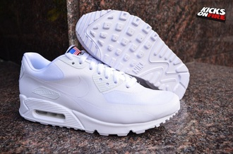 shoes white nike white shoes nike air max 90 hyp infrpendence day