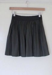 skirt,pleated skirt,black
