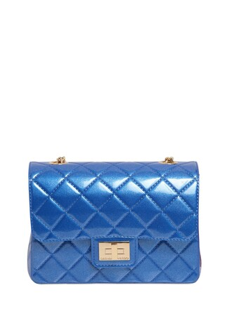 quilted bag shoulder bag blue royal blue