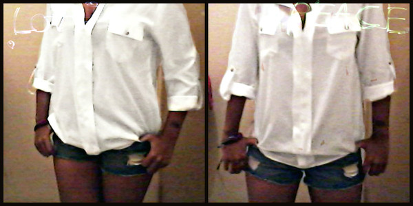 blouse peace :) whiteshirt ripped shorts