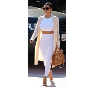 skirt white white skirt kim kardashian white dress cream dress designer