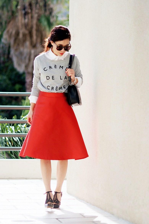 Chanel Sweatshirt Bag Red Skirt Chanel Boy Bag
