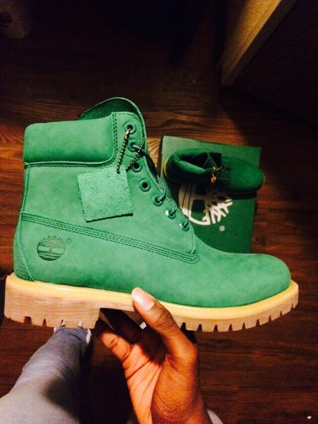 shoes green timbs