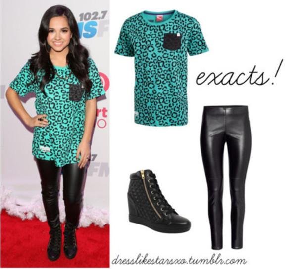 t-shirt tees becky g pocket t-shirt leopard print black shoes