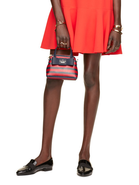 bag mini bag stripes handbag purse blue and red