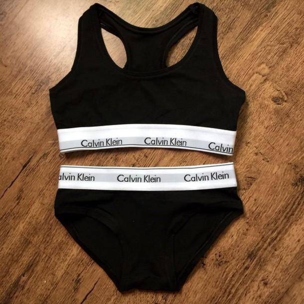 Calvin Klein Sports Bra And Underwear Set