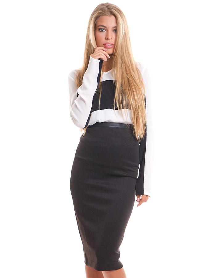 Falda tubo cintura alta de vero moda maria