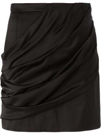 skirt mini skirt mini draped black