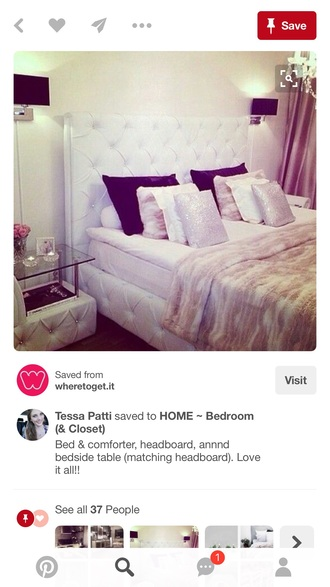 home accessory headboard sequins bedroom white modern tufted