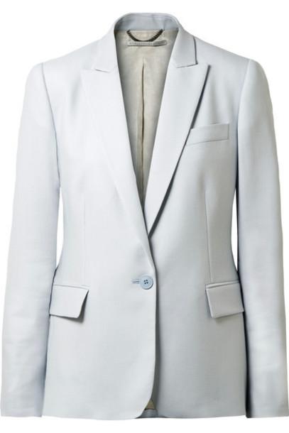 Stella McCartney blazer blue wool sky blue jacket