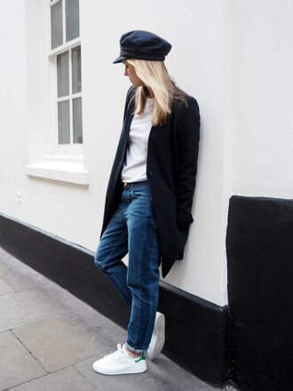 style and minimalism blogger jeans pants coat sweater t-shirt