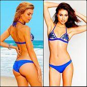 swimwear,bikini,bikini top,bikini bottoms,top,summer,beach,blue,blue bikini,halter neck,cheeky,tan,teal,gorgeous