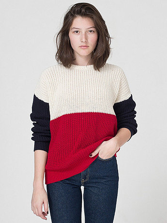 Unisex Color Block Fisherman's Pullover | American Apparel