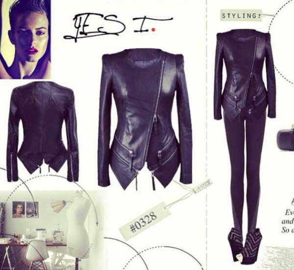 jacket leather jacket black black jacket