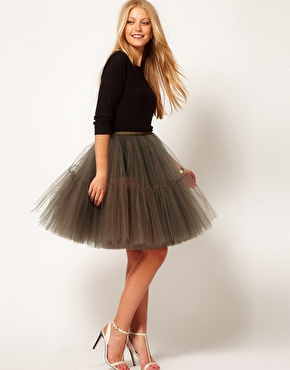 ASOS | ASOS Full Skirt in Mesh at ASOS