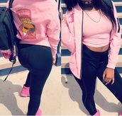 jacket,pink,killa cam,bart simpson,bomber jacket,cute,pretty,trendy