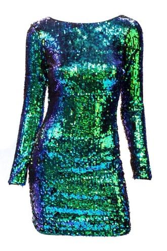 dress emerald green homecoming dress sequin dress short dress tight dresses quarter sleeve