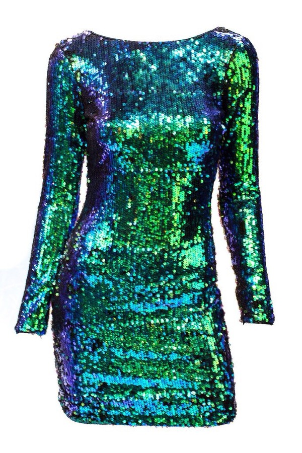 Dress Emerald Green Homecoming Dress Sequin Dress