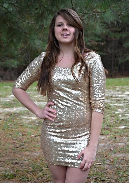 Glitter and gold dress