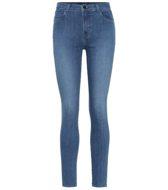 J Brand Maria high-rise skinny jeans in blue