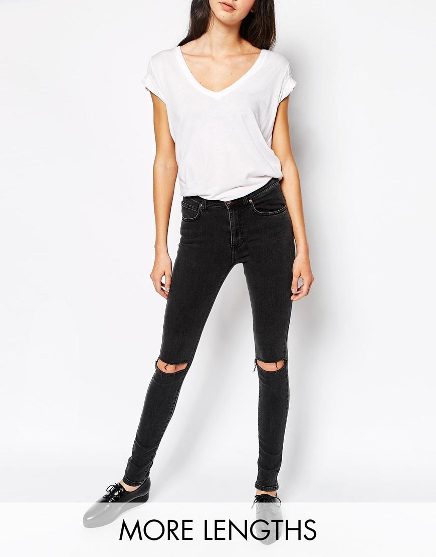 sorte denim bukser