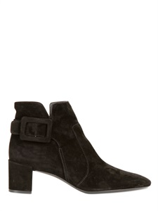 LUISAVIAROMA.COM - ROGER VIVIER - 45MM POLLY SUEDE ANKLE BOOTS