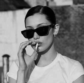 sunglasses bella hadid flat top sunglasses chunky sunglasses black sunglasses