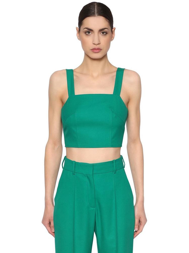 RACIL Cool Wool Crop Top in green
