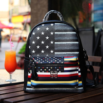 bag shoulder bag / backpack double root strap european and american style cylindrical zip medium hardness