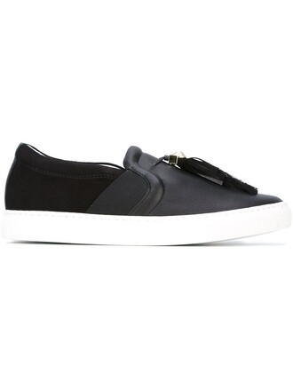 tassel sneakers black shoes