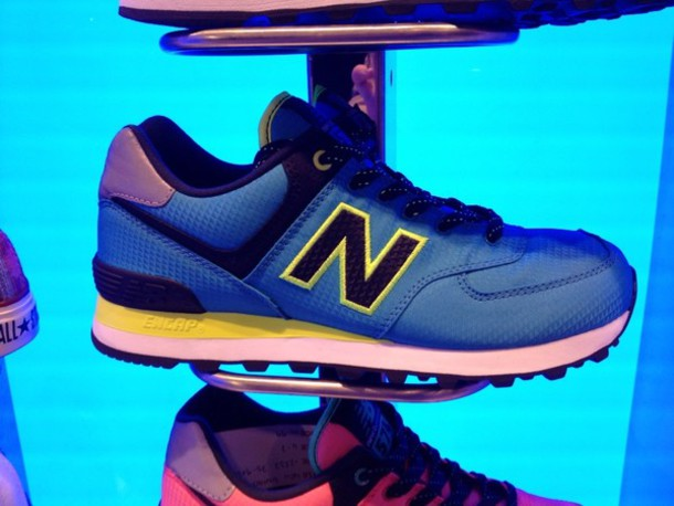 shoes blue neon new balance
