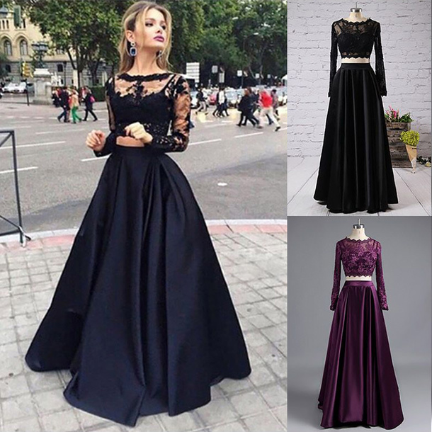 dress two piece prom dresses black two piece dress long sleeve prom dress long sleeve prom dresses black long sleeves prom dress prom dress long prom dress 2 piece prom dress 2 piece prom dresses long sheer prom dresses 2017