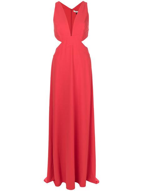 Halston Heritage dress maxi dress maxi women spandex red