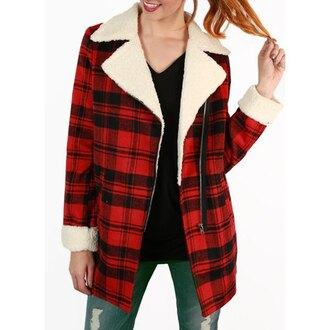 coat rose wholesale plaid winter coat christmas 90s style grunge