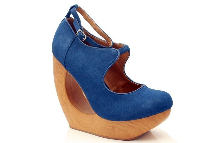New Jeffrey Campbell Inspired Cutout Wood Wedge Platform Mary Jane Ankle Strap | eBay