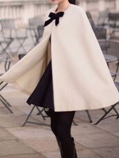 coat,ribbon,cute,cardigan,elegant,white,black,korean fashion,kstyle,japanese,long,feminine,korean style