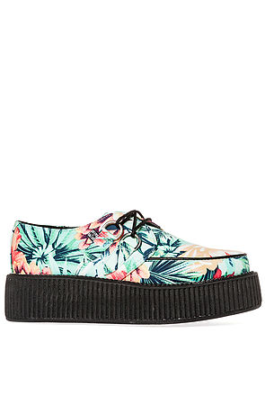 T.U.K. Shoe Mondo Sole Creeper in Tropical Print Multi -  Karmaloop.com