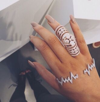 nail accessories nail polish nails style jewels bracelets diamonds palm wrist lightening tumblr accessory ring luxury hipster girly silver gold lovely beautiful nice modern jewelry knuckle ring bling