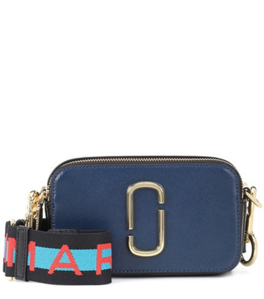Marc Jacobs Snapshot Small leather camera bag in blue