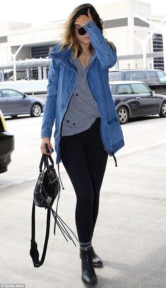 t-shirt grey hole top grunge cool fashion kylie jenner fashion blogger jacket shoes shirt coat