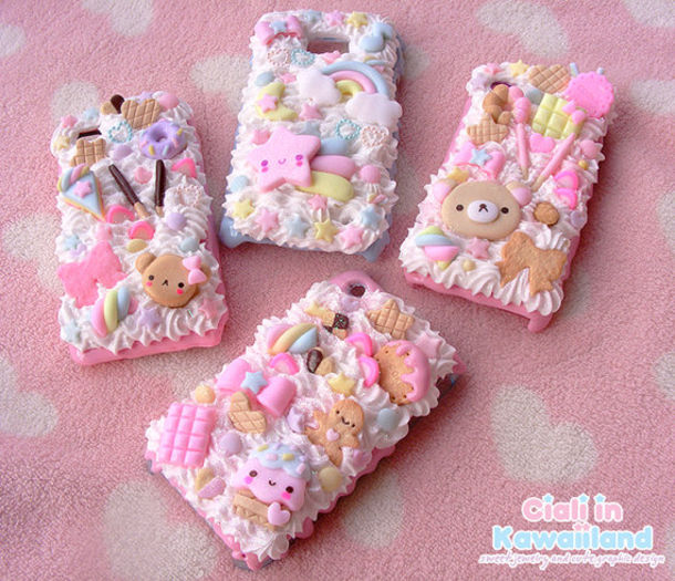 jewels cute phone cover pink pastel sweets sweet phone cover phone cover kawaii